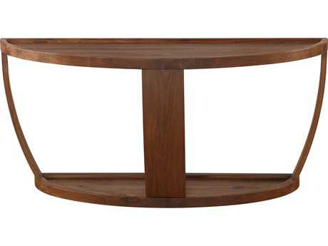 Moe's Home Collection Dylan 60'' x 20'' Demilune Rustic Walnut Console Table