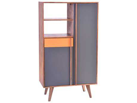 Moe's Home Collection Bliss Cabinet with Grey and Orange Accents