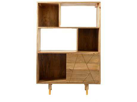Moe's Home Collection Messinki 33.5'' x 14'' Natural Bookshelf