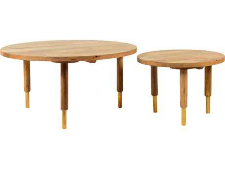 Moe's Home Collection Messinki Set of 2 Round Natural Coffee Table