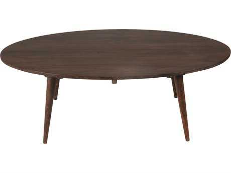 Moe's Home Collection Pablo 53'' x 29.5'' Oval Dark brown Coffee Table