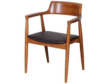 Moe's Home Collection Adriano Brown Dining Arm Chair