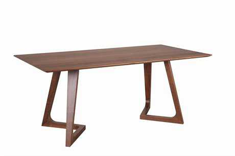 Moe's Home Collection Godenza 86.6 x 39.4 Rectangular Walnut Dining Table