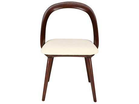 Moe's Home Collection Rialto Beige Dining Chair with Ash Wood Legs (Set of 2)