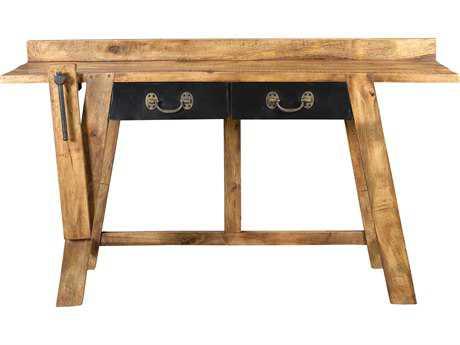 Moe's Home Collection Kaleo 59'' x 19'' Mango Wood Workbench Desk
