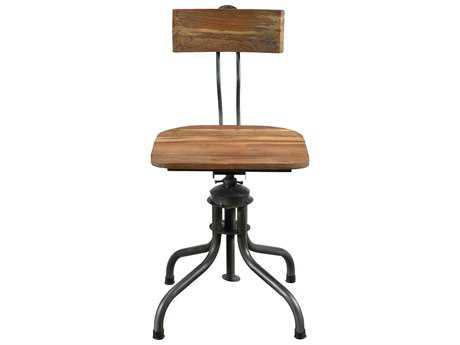 Moe's Home Collection Gabriel Solid Teak Wood Desk Chair (Set of 2)