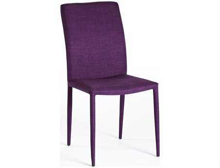 Moe's Home Collection Mena Purple Dining Side Chair (Set of 2)