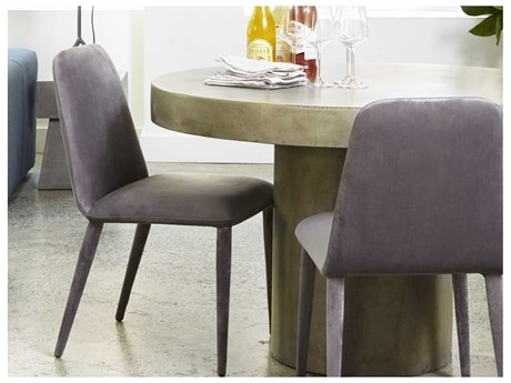 Moe's Home Collection Hunter Set of 2 Charcoal Grey Dining Side Chairs