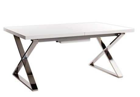Moe's Home Collection Cabello 71 x 35 Rectangular White Extension Dining Table