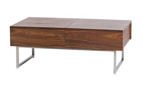 Moe's Home Collection Kansu 39 x 22 Rectangular Walnut Coffee Table