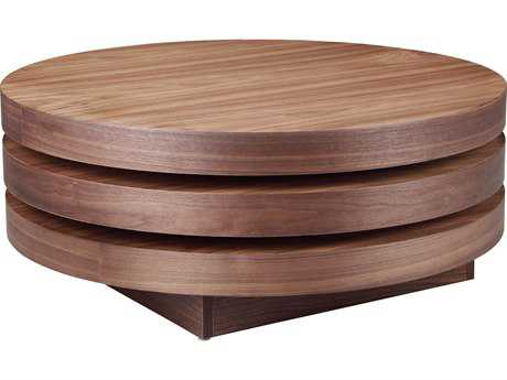 Moe's Home Collection Torno 31.5'' Round Walnut Coffee Table