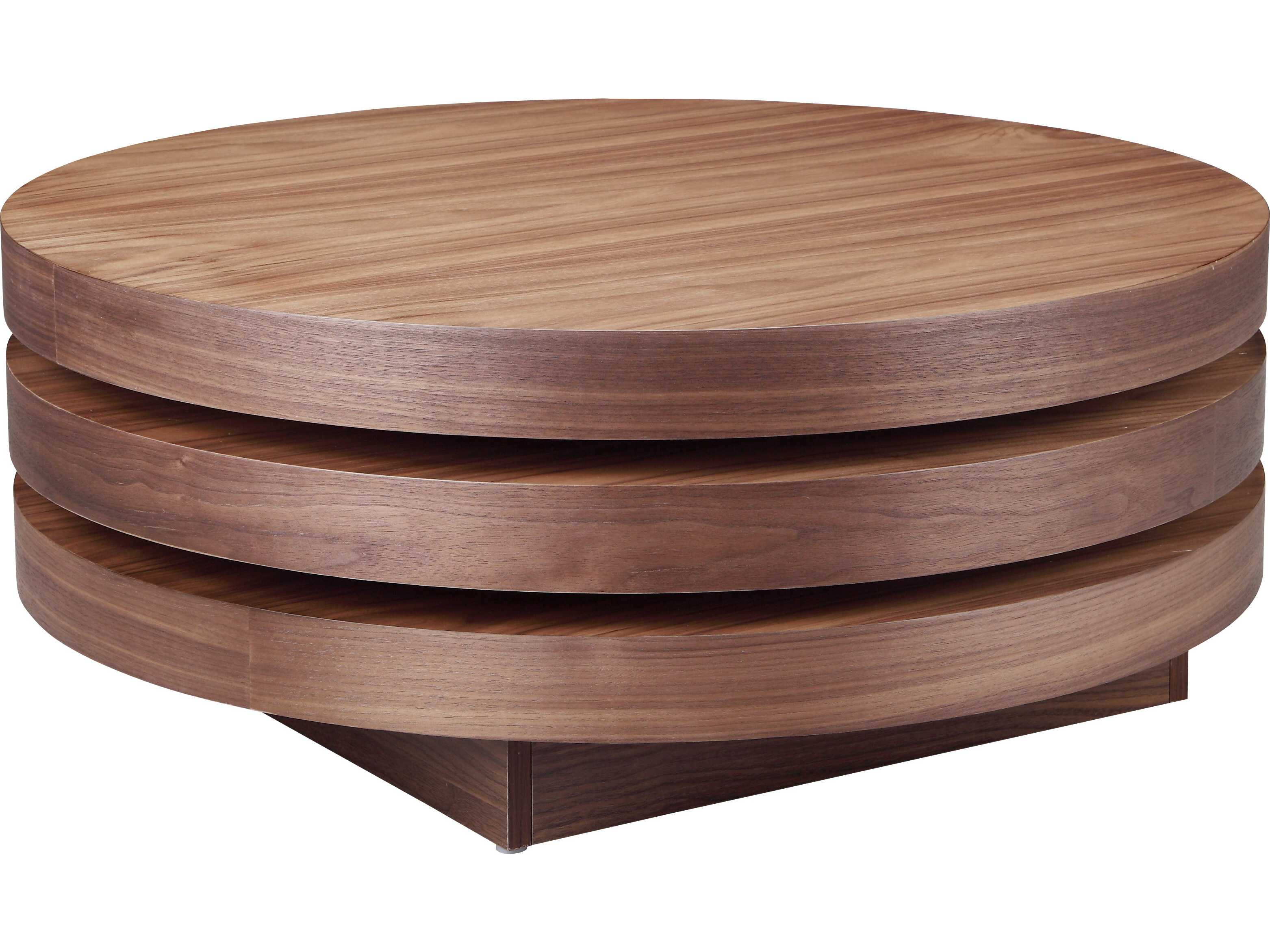 Moe S Home Collection Torno 31 5 Round Walnut Coffee