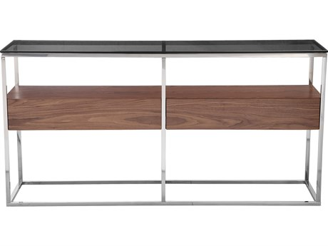 Moe's Home Collection Cubix Dark Brown 60'' x 15'' Rectangular Console Table