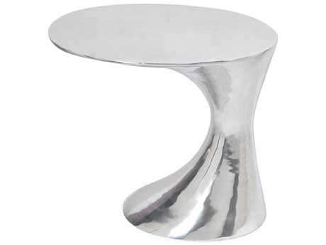 Moe's Home Collection Mercury 22'' Round Silver Side Table