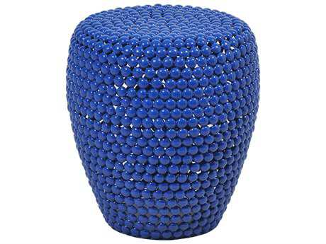 Moe's Home Collection Jazz 15'' Round Blue Side Table