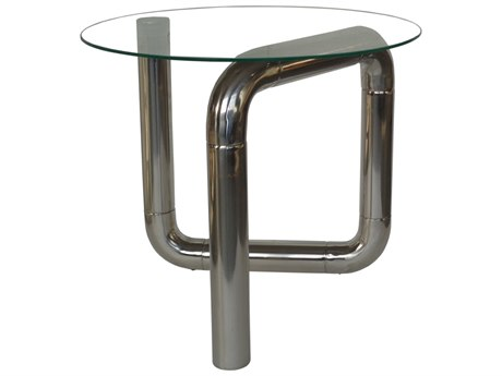 Moe's Home Collection Boa Stainless Steel 22'' Round Side Table