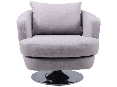 Moe's Home Collection Penny Grey Swivel Accent Chair