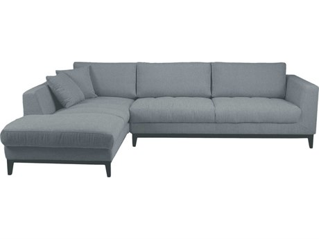 Moe's Home Collection Nickel Grey Left Sectional