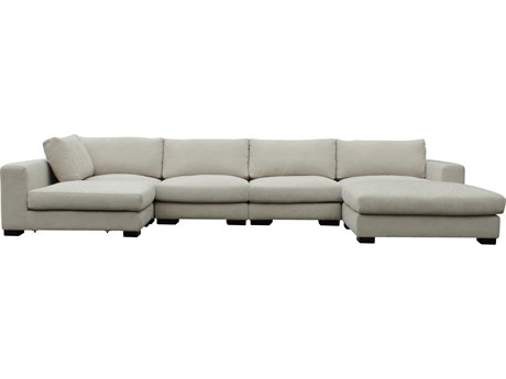 Moe's Home Collection Colombo Cream White Sectional