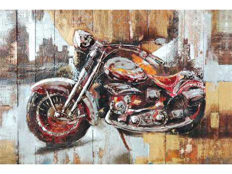 Moe's Home Collection Motorcycle City Wall Painting MEFX112237