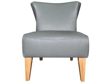 Moe's Home Collection Quentin Grey Leather Side Chair