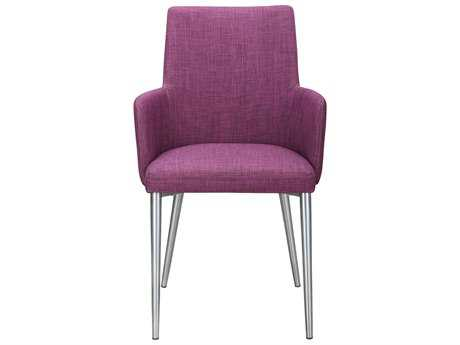 Moe's Home Collection Flavia Arm Purple Dining Chair