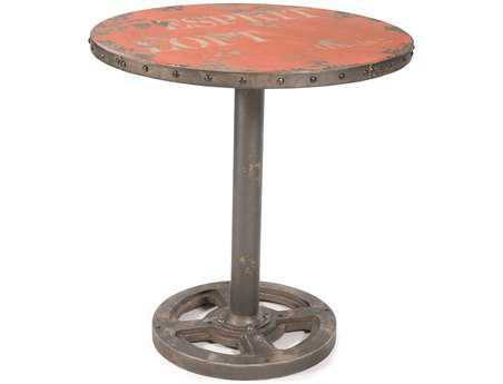 Moe's Home Collection 30 Round Orange Wheel Table
