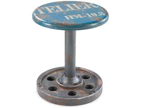 Moe's Home Collection Blue Wheel Stool