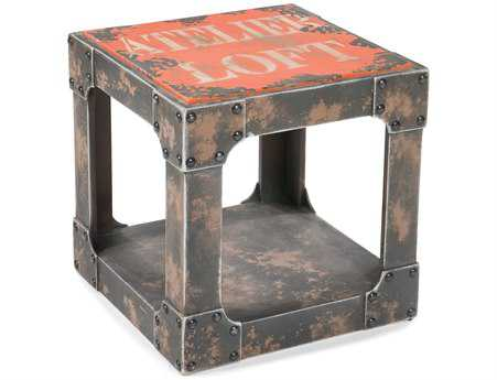 Moe's Home Collection Loft 16 Square Orange Side Table