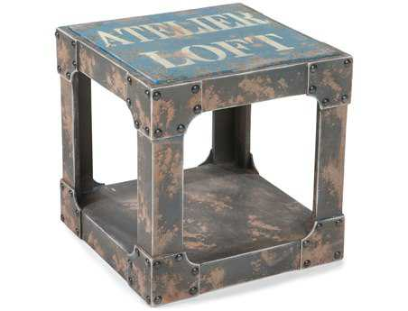 Moe's Home Collection Loft 16 Square Blue Side Table