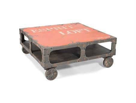 Moe's Home Collection Loft 39 Square Orange Coffee Table