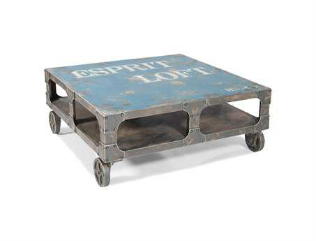 Moe's Home Collection Loft 39 Square Blue Coffee Table