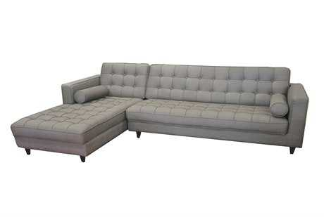 Moe's Home Collection Romano Light Gray Left Sectional