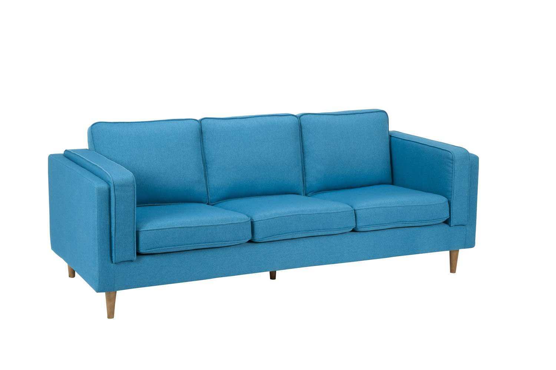 Moe S Home Collection Rosilini Blue Sofa Mehv101326