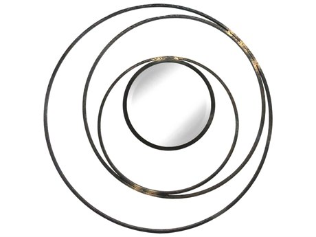 Moe's Home Collection Whirlpool Multi 31.5'' Round Wall Mirror
