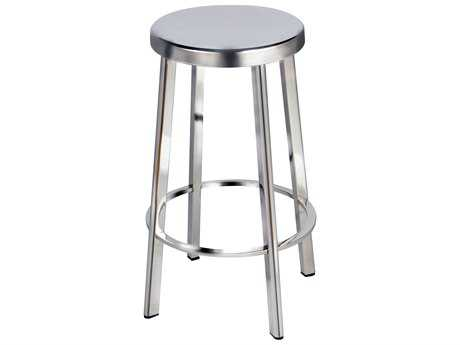 Moe's Home Collection Vitter Stainless Steel Bar Stool (Set of 2)