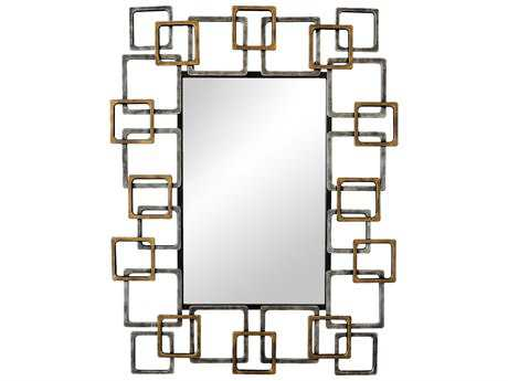 Moe's Home Collection Ives 26.5'' x 34'' Gold and Silver Wall Mirror