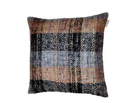Moe's Home Collection Tartan Multi-Color Cushion with Feather Insert
