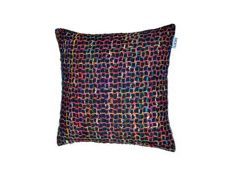 Moe's Home Collection Chain Black Cushion with Feather Insert