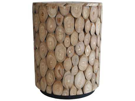 Moe's Home Collection Medallion Natural Round Accent Stool