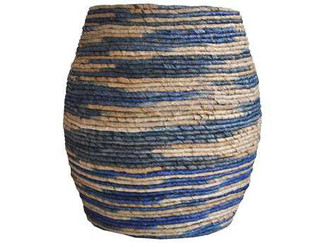 Moe's Home Collection Abaca Blue Accent Stool