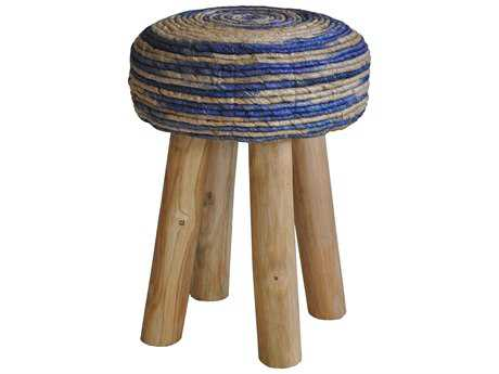 Moe's Home Collection Bali Round Blue Accent Stool