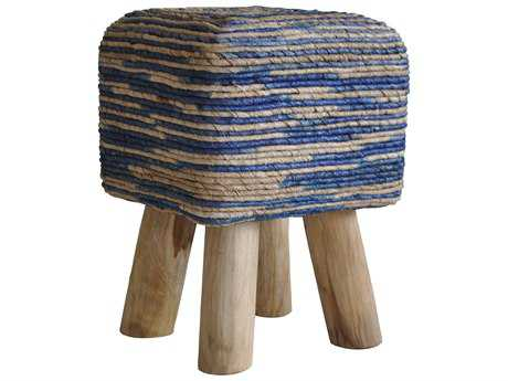 Moe's Home Collection Bali Square Blue Accent Stool