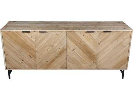 Moe's Home Collection Ziggy Large 69'' x 17.5'' Solid Reclaimed Pine Wood Sideboard