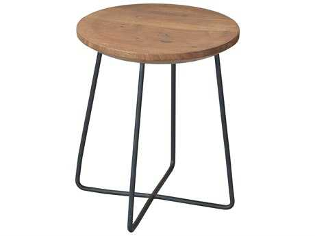 Moe's Home Collection Rainbox Natural Accent Stool with Black Legs (Set of 2)