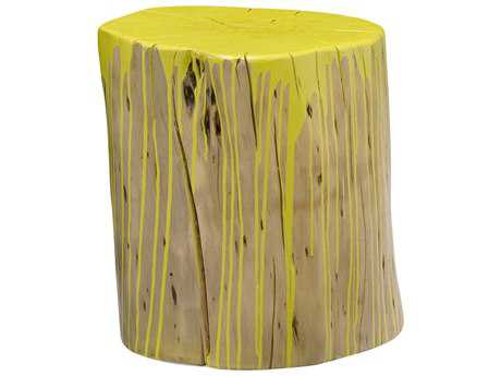 Moe's Home Collection Stump Lime Yellow Accent Stool