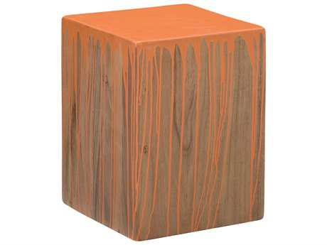 Moe's Home Collection Slice Square Orange Accent Stool