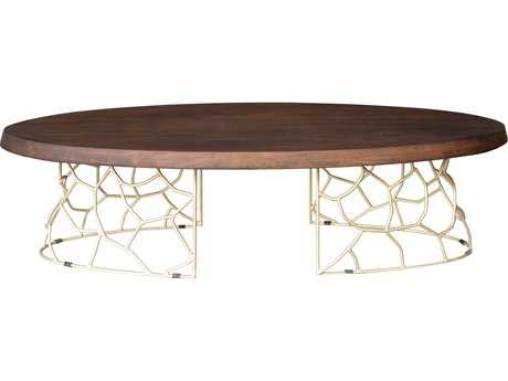 Moe's Home Collection Ario 62'' x 27'' Oval Dark brown Coffee Table