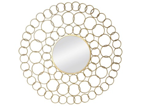 Moe's Home Collection Abalone Gold 35.75'' Round Wall Mirror