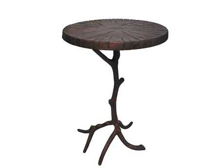 Moe's Home Collection Cross 18'' Round Brown Accent Table